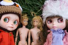 Pippa and Winnie Found 2 wandering waifs- Skipper and Skooter, Barbie's friends.