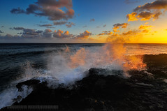Poipu Sunset (jlindhardt) Tags: ocean sunset water clouds hawaii nikon pacific wave kauai poipu koloa d300 lindhardt