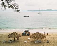 Stuck at the beach. (Alistair Henning) Tags: travel blue vacation beach water america boats boat aperture stuck central sigma hut carol panama 2012 merrill foveon dp2 vsco