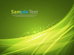 Abstract Smooth Lines Background (vectorbackground) Tags: light shadow motion green art illustration star concentration shiny stream glow technology power bright image bend action background banner science line card swirl lightning curve shape tentacle greeting connection