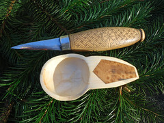 inlaid coffee scoop (fishfish_01) Tags: wood art rural folkart folk traditional spoon carving carve willow hazel birch tradition spoons woodenspoon woodenspoons bushcraft spooncarving
