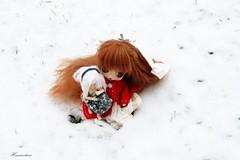 Puchi & Kyubey - Snow (Hina Matsuri) Tags: snow doll little dal wig groove neige humpty dumpty custom lunatic custo kyubey byul eyeships docolla