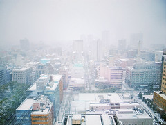 Snow like a baby sherbert. (huyunt) Tags: pink winter sky cloud snow japan landscape flow pastel air scene yokohama