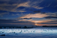 Sea of snow & ice (Eric Goncalves) Tags: blue winter sunset sky snow cold clouds gloucestershire sunsetting nikond7000 rememberthatmomentlevel1