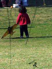 Ready to fly (Pharheen) Tags: street shadow portrait people india kite girl beauty children fly alone little solo rosegarden chandigarh