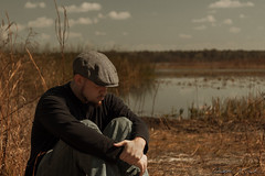 (skippys1229) Tags: portrait lake selfportrait water canon rebel sadness florida literature steinbeck summerfield countypark ofmiceandmen marioncountyflorida littlelakeweir rebelt1i t1i canonrebelt1i getpushed