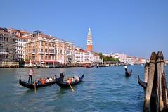 Venice : St Mark's Campanile (Pantchoa) Tags: venice two italy st nikon italia salute marks nikkor venise venecia venezia grandcanal gondole veneto d90 vntie palazzotiepolo monacograndcanal pantchoa 1685f3556gedvr puntadeladogana rememberthatmomentlevel1 campanilecampanilegondolesfondamenta