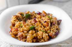 Chorizo Curry Rice & Beans (Allan Reyes) Tags: food recipe lunch beans rice sausage curry spices chorizo pinoy ulam