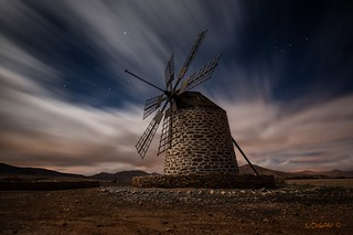 Tefia Windmill. Cold, long exposure.