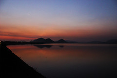 Reservoir (db3rdeye) Tags: sunset sun reservoir vizag steelplant visakhapatnam