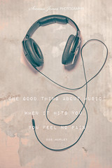 Escape Through Music (Serena178) Tags: music escape quote sound headphones canon5d bobmarley listen odc2