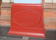 London St. Pancras Station Commemorative Plinth (Stuart Axe) Tags: england uk unitedkingdom gb greatbritain london stpancras stpancrasstation plaque plinth butterleycompany sign