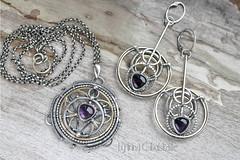 Astrolabe II (Taniri) Tags: jewellery set sterlingsilver amethyst brass earrings pendant