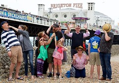 Family Group Photograph - 24 July 2016 (tonyd1947) Tags: canonef24105mmf4lis rob sophie kirsty miranda darren eowyn willow val tony seb stu brightonpier pier brighton