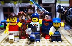 Happy Brithday, Mike! (Mike LEGO) Tags: lego birthday marvel dc photography sigfig mikelego superman batman rey ironman ghostbusters bricks minifigures