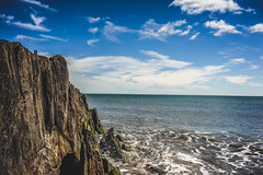(Ails N hgeartaigh) Tags: ireland sea summer sky irish seascape beach water rock zeiss outside europe o outdoor son bluesky shore za a7 2016