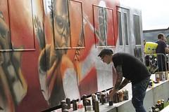 Upfest 2016 (thatmelissakid) Tags: upfest bristol bedminster streetart art festival artist progress outdoor graffiti spraypaint red