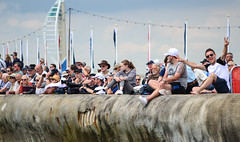 Exited Fan (Owen Davies Landscape Photography) Tags: americas cup portsmouth dutchess cambridge kate middleton prince william ben ainslie sailing southsea duke of royal family