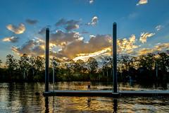 WATCHING THE SUNSET (len.austin) Tags: australia boatramppark brisbaneriver jindalee landscape pontoon queensland sunset
