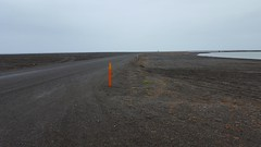 The road leading out to Point Barrow - the northernmost tip of the U.S.