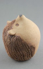 Hedgehog Puzzle Spice Shaker (Ryan McCullen) Tags: animal wildlife wild salt spice sugar puzzle shaker humid humidity clay ceramic stoneware pottery sculpture handmade wheel wheelthrown hedgehog hedgie functional kitchen home indoor profile