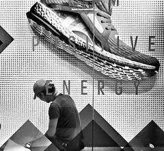 Step on u !! (-Faisal Aljunied-) Tags: faisalaljunied iphone6 streetphotography adidas bwstreet blackandwhite monochrome juxtaposition