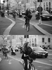 [La Mia Citt][Pedala] (Urca) Tags: milano italia 2016 bicicletta pedalare ciclista ritrattostradale portrait dittico bike bicycle nikondigitale mir biancoenero blackandwhite bn bw nw 881272