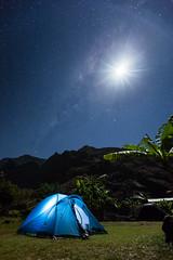 A night in Mafate (JulGlouton) Tags: moon stars starlight stardust milkyway voielacte night nuit nightscape nature galaxy reunionisland runion mafate camping campsite