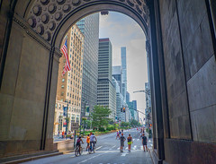 Summer Street, NYC (JMS2) Tags: parkavenue manhattan summerstreets bikers pedestrians joggers street newyorkcity skyscrapers