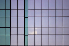 Glass Pastels (Sam Wagner Photography) Tags: architecture minneapolis buildings compressed telephoto towers skyscrapers att glass pastel gradient purple teal colorful divided windows panes