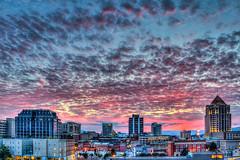Studded Sunset - Roanoke [Explored!] (Terry Aldhizer) Tags: sunset twilight roanoke spectacular studded altocummulus sky buildings city wells fargo norfolk southern bbt hometown bank terry aldhizer wwwterryaldhizercom