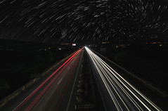 Highway to the stars (Alex Apostolopoulos) Tags: highway longexposure nightphotography startrails red white road night freeway trails cyprus sony sonya6000 ilce6000 samyang samyang12mmf20 uwa wideangle