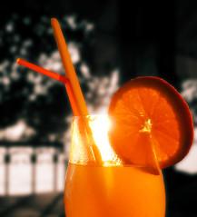 Lemonade (M.patrik) Tags: lemonade blur bokeh orange lemon black white selective straws two tree orangeade naranjada juice
