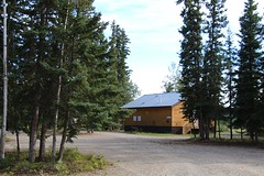 Minto Resort Campground (demeeschter) Tags: canada yukon territory klondike highway lake mountain scenery landscape nature wildlife fire forest river minto resort bald eagle