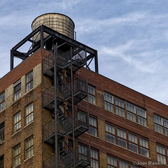 You Can Lead a Horse to Water... (Joel Raskin) Tags: watertank fireescape firestairs building nyc chelsea manhattan urban brickbuildings windows facade city newyorkcity 11 square