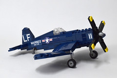 Vought F4U4 Corsair (3) (Dornbi) Tags: lego aircraft wwii vought f4u f4u4 corsair navy marines us naval