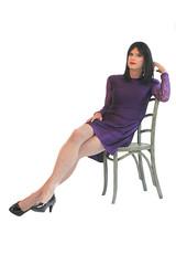 Purple Dress (Hannah McKnight) Tags: tgirl transgender transgirl model crossdress crossdresser stilettos