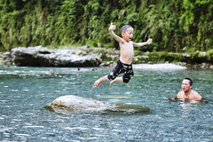 Excellent Diving ( aikawake) Tags: diving jumping water strong awesome cool amazing wonderful excellent happy crazy  kid child river father train courage superman warrior     great     clear cold summer taiwan taiwanese hualien
