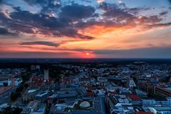 Leipzig von oben (wirklich_rainer_zufall) Tags: uniriese panoramatower leipzig sonnenuntergang altes rathaus panorama nd filter gnd cokin 121m
