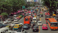 Bangkok traffic (SleekViv) Tags: city urban car thailand traffic bangkok