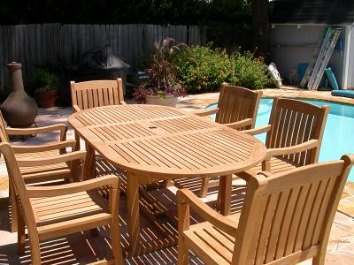 Outdoor Teak Dining Set By Atlanta Teak Furniture (Atlanta Teak Furniture)  Tags: Outdoor