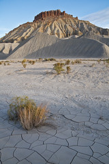 Bentonite Butte (Utah Images - Douglas Pulsipher) Tags: mountain abandoned utah ut butte hill dry erosion mineral lonely badlands geology southernutah mesa isolated eroded desiccated parched geological bentonite geologic utahnationalparks caineville utahdesert sanrafaeldesert utahdeserts southernutahdeserts