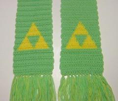 Triforce scarf (pastel) (doctormoo) Tags: scarf handmade crafts crochet nintendo link zelda nes legendofzelda triforce hyrule