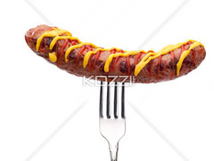 grilled sausage on fork (manafood8877) Tags: life food dog brown white hot macro closeup breakfast dinner lunch cuisine hotdog junk warm ketchup path background object beef fat traditional fastfood sausage fast tasty fork fresh meat grill pork eat american barbecue snack meal fatty mustard barbeque takeaway wurst cooked grilled product fried calorie bratwurst isolated unhealthy gastronomy nutrition calories foodstuff nutritious ingredient prepared grilledsausage