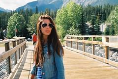 miranda (ghostmoves) Tags: woman canada rockies longhair denim canmore aviators
