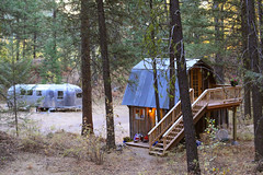 LCITW (very early morning overview) (The Noisy Plume) Tags: forest vintage cozy maple woods winthrop cottage trailer miss airstream twisp northcascades landyacht douglasfir littlecabininthewoods ponderosapine methowvalley northernwashington lcitw