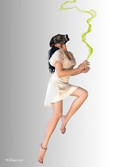Smog (Marko Popadic) Tags: white black green girl hair death smog dress mask legs skin poison dreads