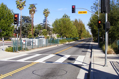 Crosswalk at Busway, Laurel Canyon Station (dan reed!) Tags: sanfernandovalley orangeline losangelescalifornia laurelcanyon busrapidtransit lacmta lametro valleyvillage losangelescountymetropolitantransportationauthority justupthepike