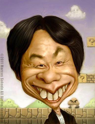 Shigeru Miyamoto, obra de Marcus Sakoda