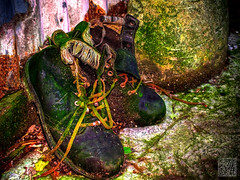 old rugged boots (atogdude) Tags: old zoo saturated boots olympus footwear wellington zuiko hdr rugged